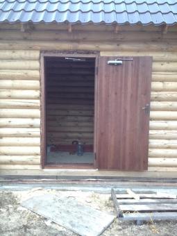 Дверной блок в баню