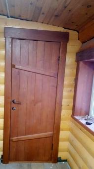 Двери из дерева в баню