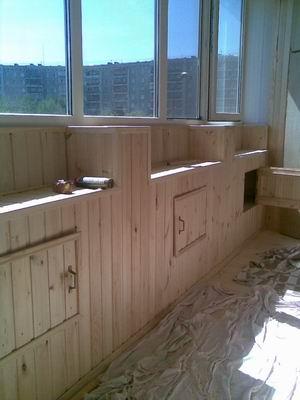 Отделка, изготовление шкафов для балконов и лоджий.